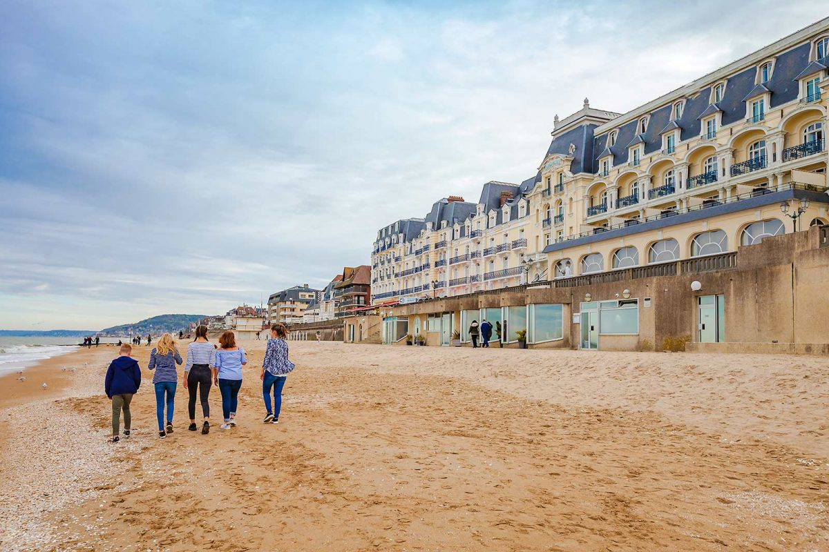 Children on the beach in Cabourg
