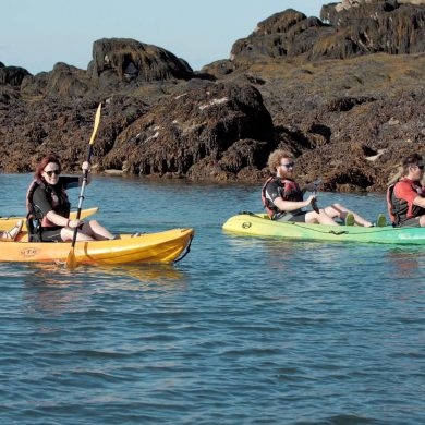Sea kayaking tours of the Chausey Islands
