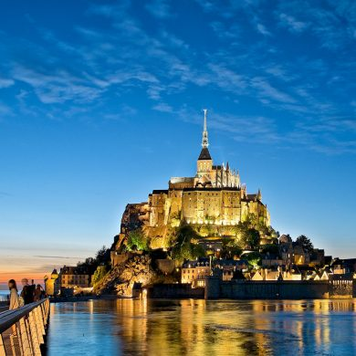 Night shows at the Mont-Saint-Michel