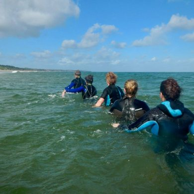 Aqua walking in Normandy