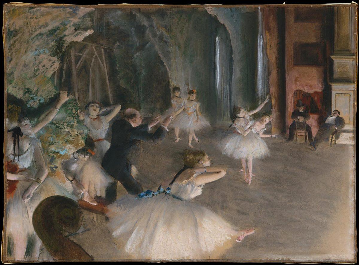 Edgar Degas répétition d'un ballet sur scène