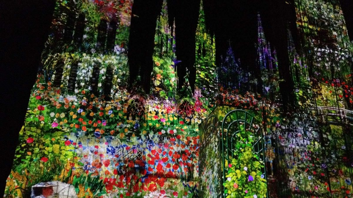 Sound & Light show on Rouen Cathedral
