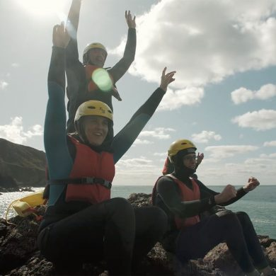 Coasteering in the Cotentin