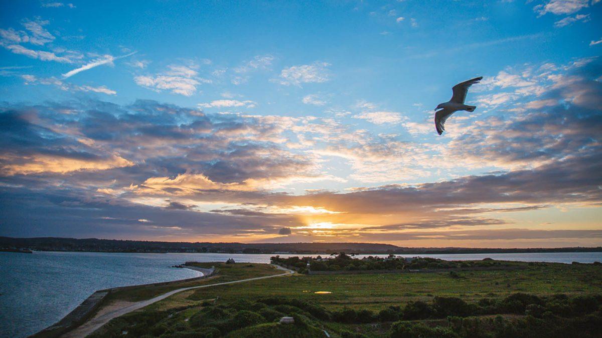 Sunset over Tatou Island