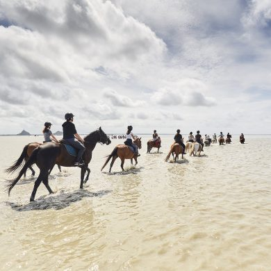 The Bay of the Mont-Saint-Michel traiL on horseback