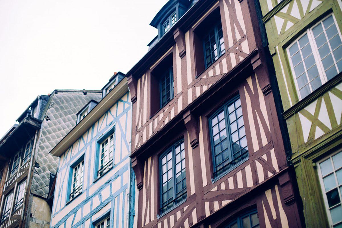 Architecture à pans de bois de Rouen
