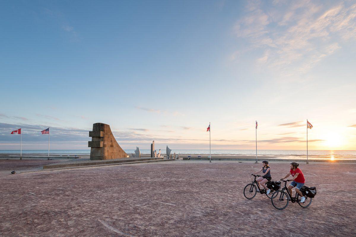 Itinéraire vélomaritime sur les plages du Débarquement