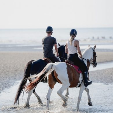 A romantic horse ride in Cabourg