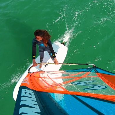 Windsurfing on the Cap de la Hague