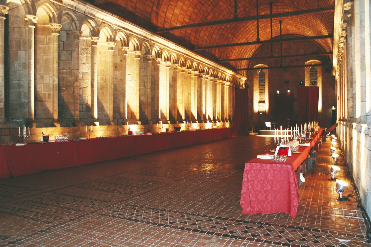 An event at the Abbey of the Mont-Saint-Michel