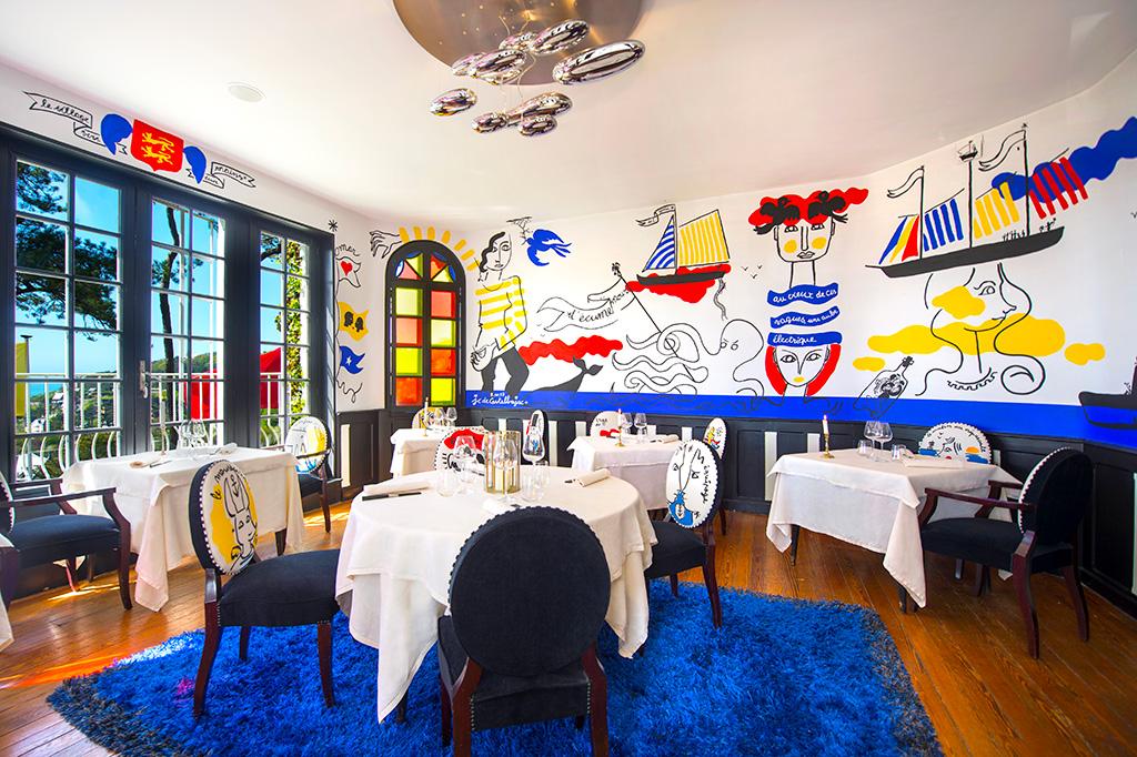 Salle de restaurant, Le Donjon - Domaine Saint Clair