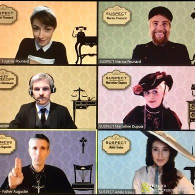 Virtual murder mystery party