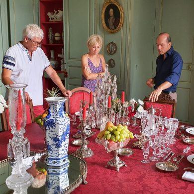 A table setting masterclass at the Château de Chantore